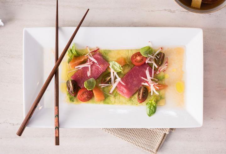 Avocado and Raw Tuna Carpaccio by Laurent Godbout, chef at Chez l'Épicier