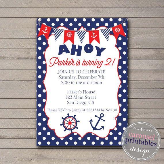 Best 25+ Nautical birthday invitations ideas on Pinterest | Sailor ...
