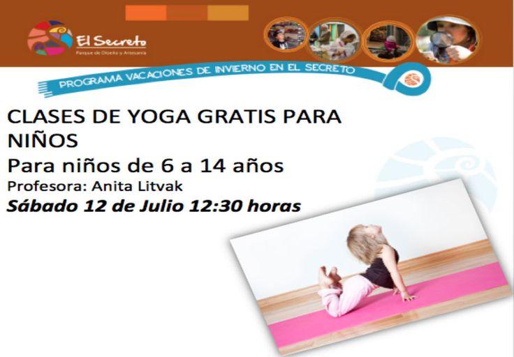 Yoga para niños Gratis, en El secreto (sábado 12 julio)