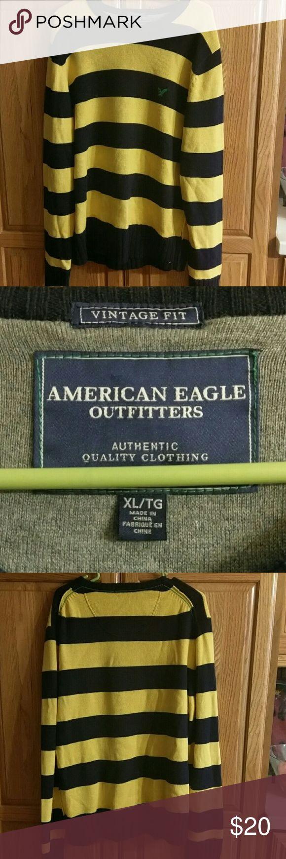 Vintage fit American Eagle sweater Super cute American Eagle men's sweater! Perfect condition American Eagle Outfitters Sweaters