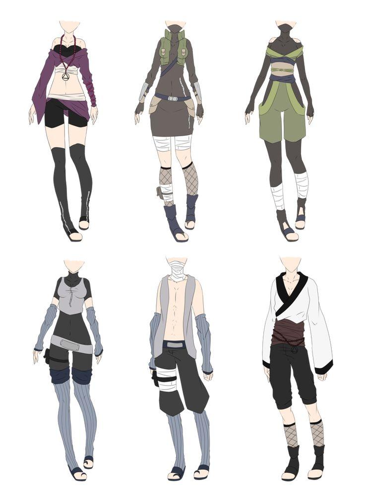 Картинки аниме одежды для девушек в стиле наруто