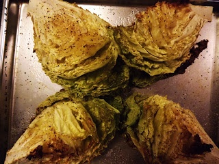 Roasted Cabbage w/ Poached Egg | Delish | Pinterest