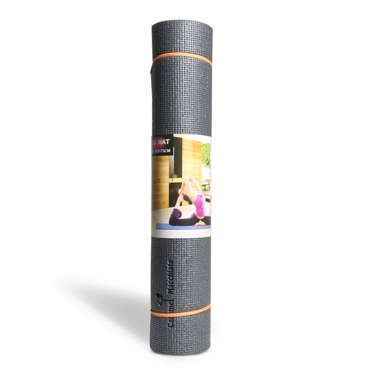 1/4-inch Thick High Density Anti-Tear 68-Inch Long Eco Friendly PVC Comfort foam Non Slip Exercise Yoga Mat with Carrying Strap for Pilates Fitness and Workout. 68'' long 24'' wide ensures comfort.With high density eco friendly pvc material ,the 1/4'' thick premium mat comfortably cushions spine, hips, knees and elbows on hard floors. With double sided texture surfaces, Carmel Macchiato premium exercise yoga mat comes with an excellent slip resistant advantage to prevent injuries. A free...