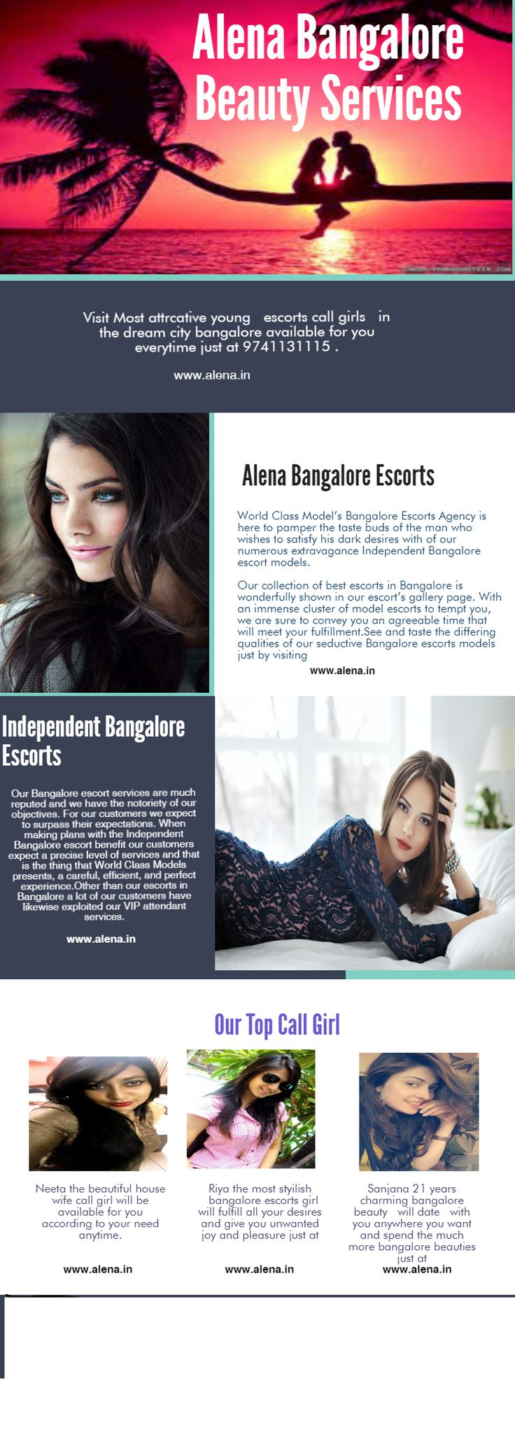Find this amazing services of bangalore girls anywhere just by visiting www.alena.in
