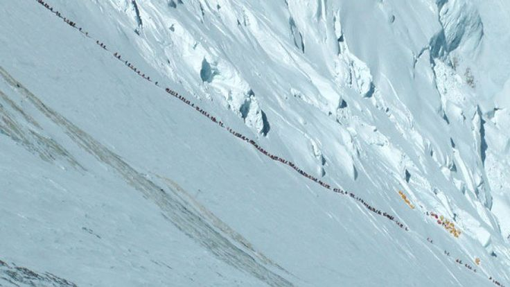 embouteillage Everest