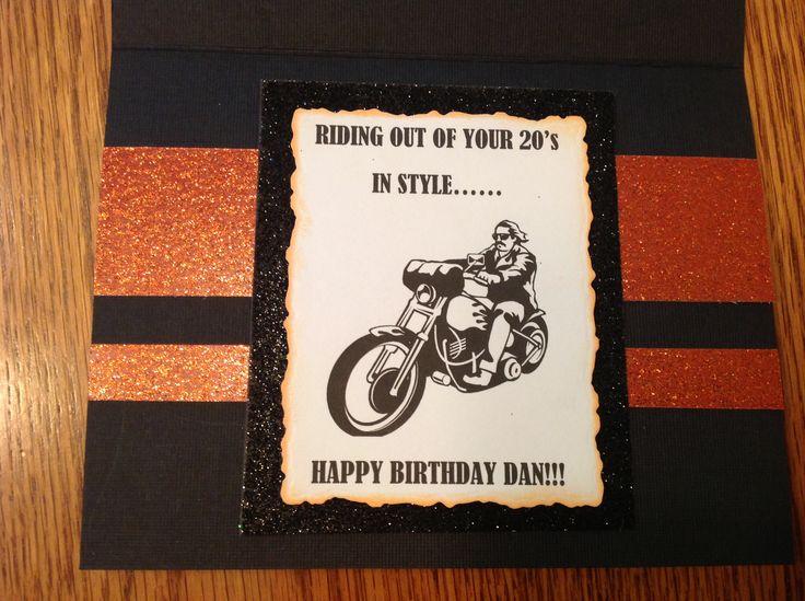 Harley davidson birthday card in my cards pinterest