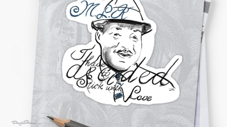 #StickWithLove #MLK #stickers in four sizes.
