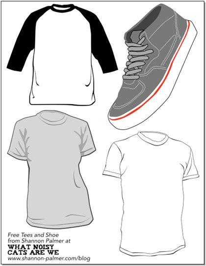 33 free t-shirt and clothing templates - Blog of Francesco Mugnai