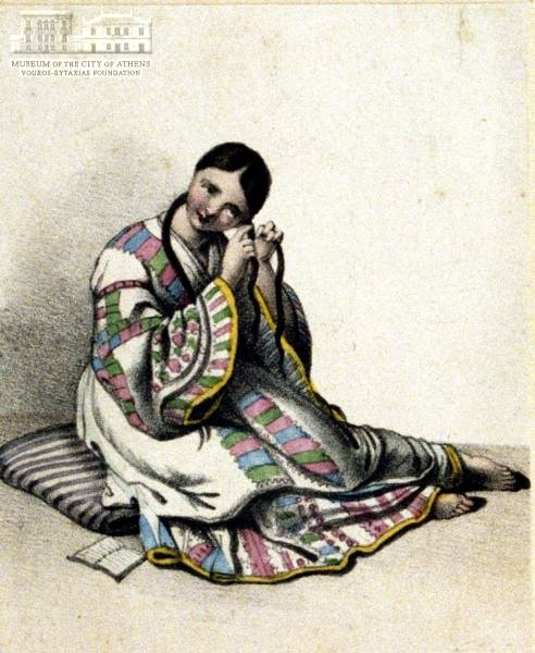 www.villsethnoatlas.wordpress.com (Grecy, Greeks) Unknown artist Greek womans attire
