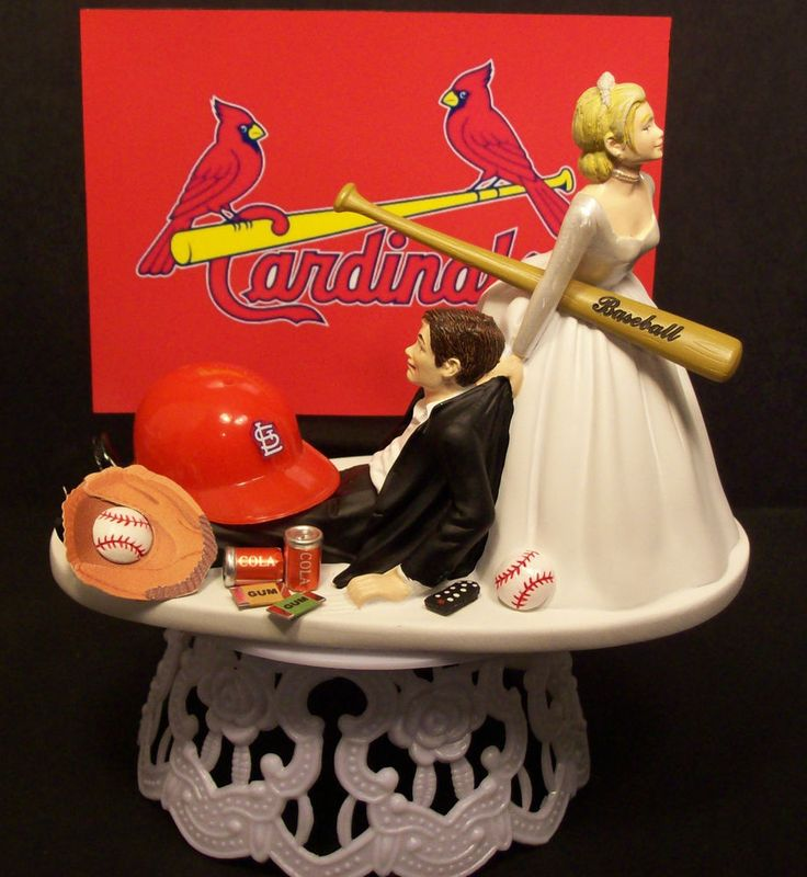 st louis cardinals baseball bride and groom wedding cake topper sports funny