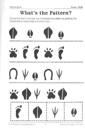 The Foot Book- free printable  Could also stamp different animal figurines in ink and make a foot flip book- penguin feet, pig feet, bear feet, big feet...