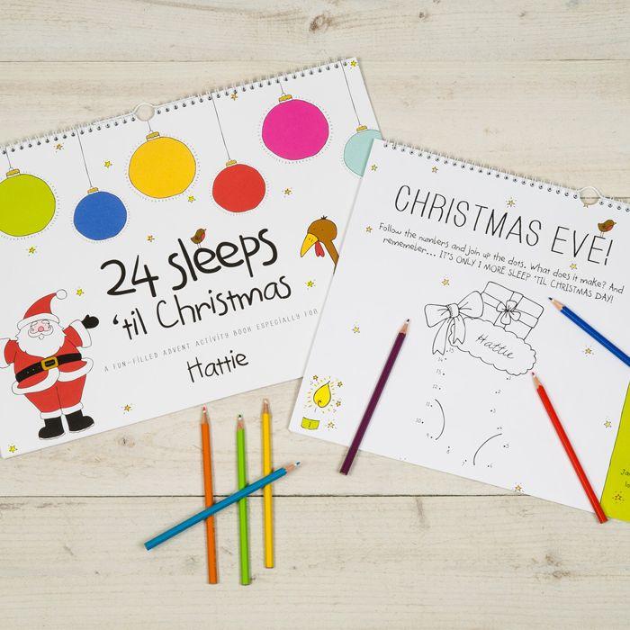 Personalised '24 Sleeps 'til Christmas' Book