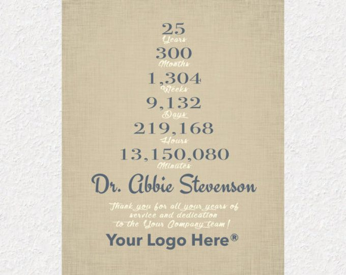 10 Years Work Anniversary Gift 10 Year Service Gift Idea Etsy Personalized Retirement Gifts Employee Gifts Employee Appreciation Gifts