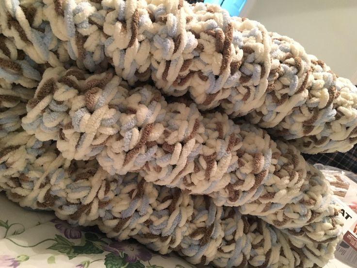 Latest addition to my #etsy shop: Super chunky large afghan  #notmerino #superchunkyblanket  #polyester #crochet #bedding #bernatbabyyarn
