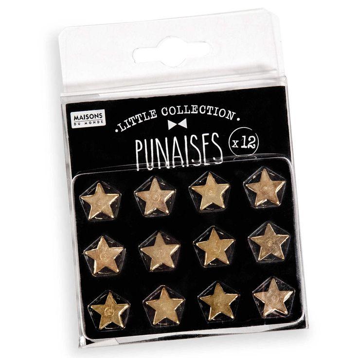 MODERN STAR 12 metal drawing pins