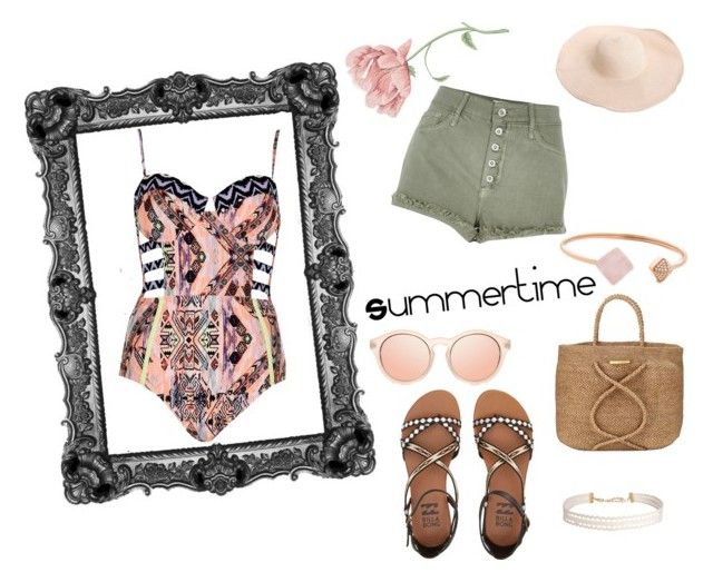 """Summertime"" by mariapap624 on Polyvore featuring River Island, Billabong, ViX, Michael Kors and Humble Chic"
