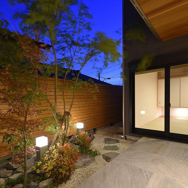 敷地の良さを目一杯に活用し 庭からテラス 和室からリビング