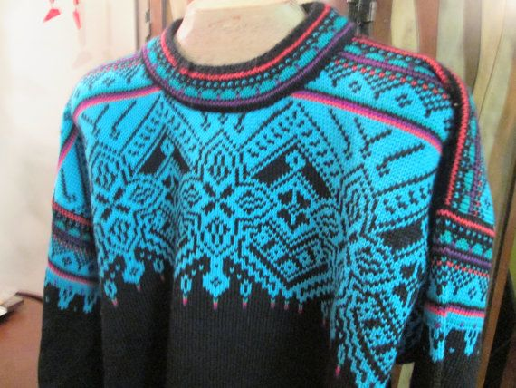 Sale Vintage Dale of Norway turquoise Knit wool by Simplemiles, $116.00