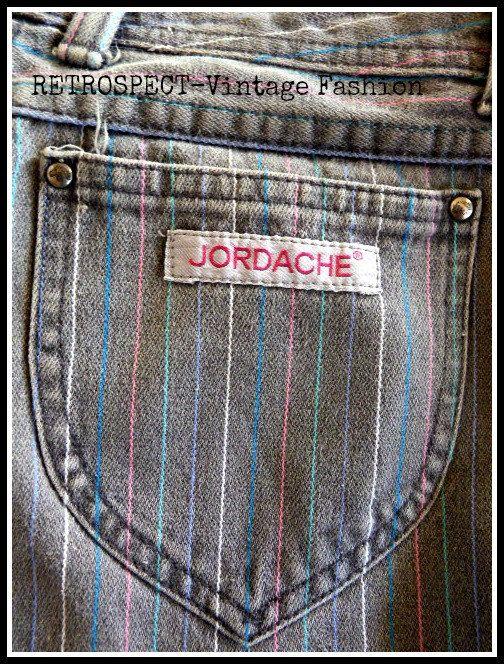 80's VINTAGE skinny JORDACHE Jeans Vintage by RetrospectBoutique, $34.99