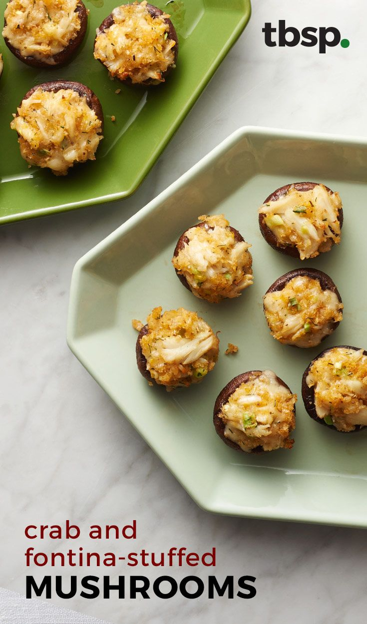 Stuffed mushrooms get a new twist with fontina cheese, lemon and fresh ...