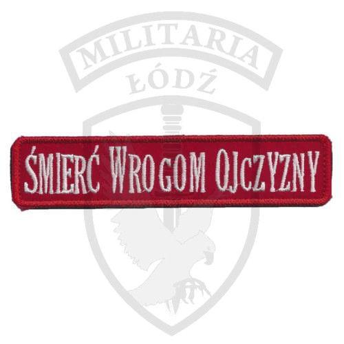 Naszywka Śmierć Wrogom Ojczyzny czerwona Militaria Łódź.pl