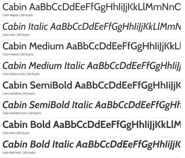 Cabin Free Font
