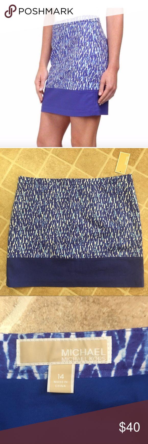 Michael Kors skirt size 14 Michael Kors, NWT royal blue and white skirt, size 14. Michael Kors Skirts Mini