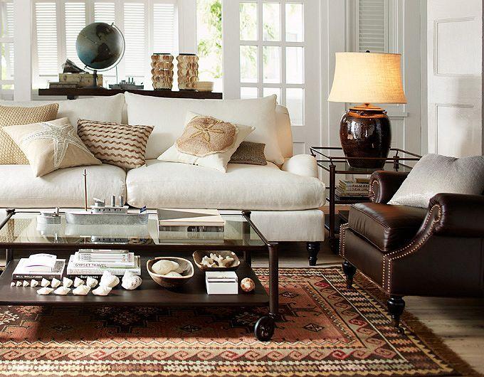 Decor ideas for living room pottery barn