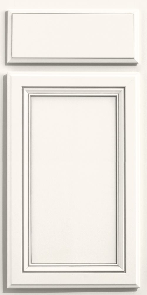 Merillat classic glen arbor door style in cotton paint for Merillat white kitchen cabinets