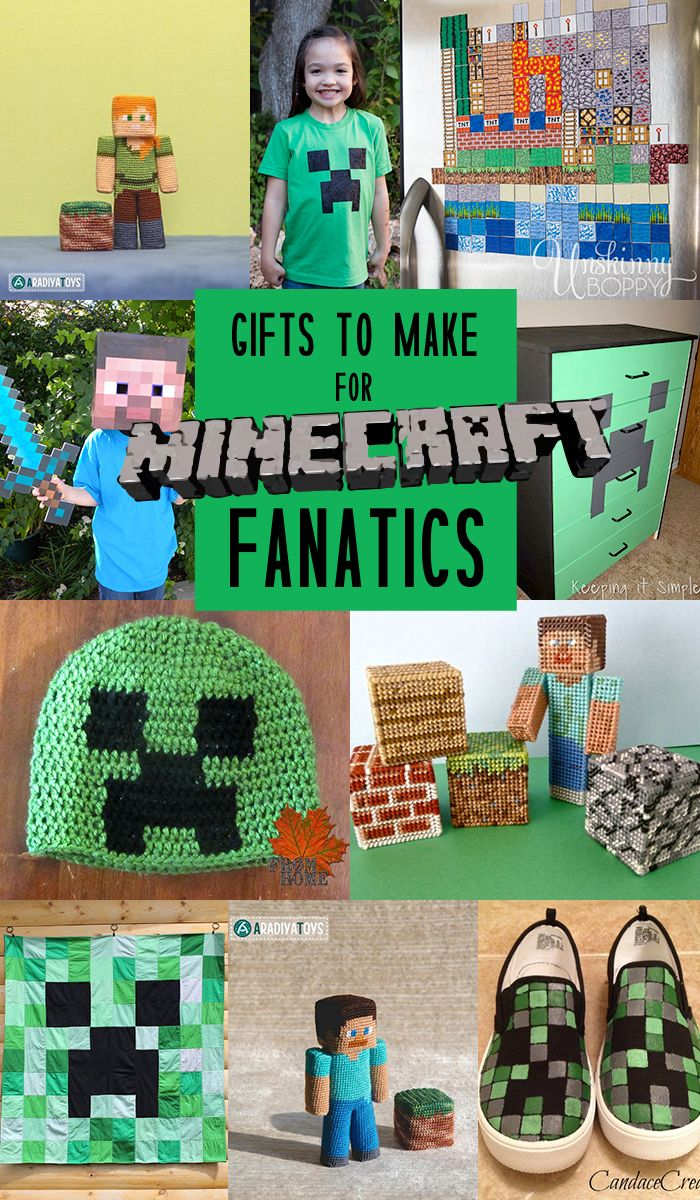 Gifts to make for Minecraft fanatics! So true I'm a mine craft fanatic also!