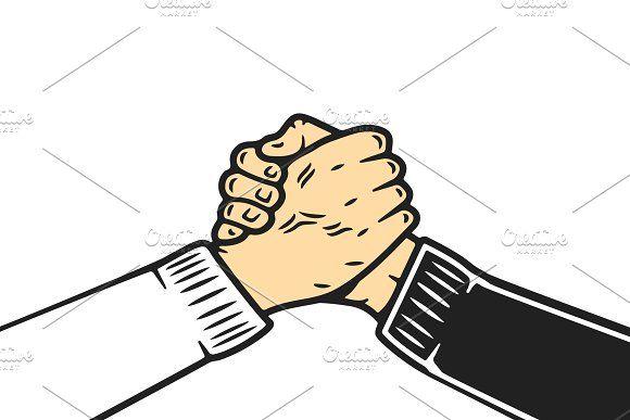 Soul Brother Handshake Vector Illustration Art Design Vector Illustration Vector