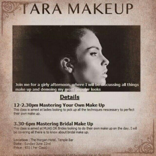 Tara makeup master class morgan hotel