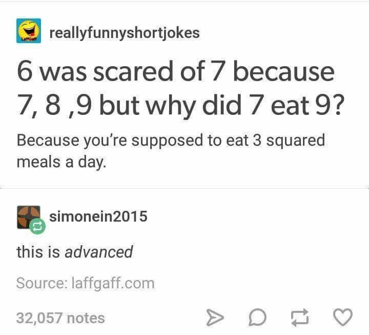 I could see Seven saying this if you say you haven't eaten yet