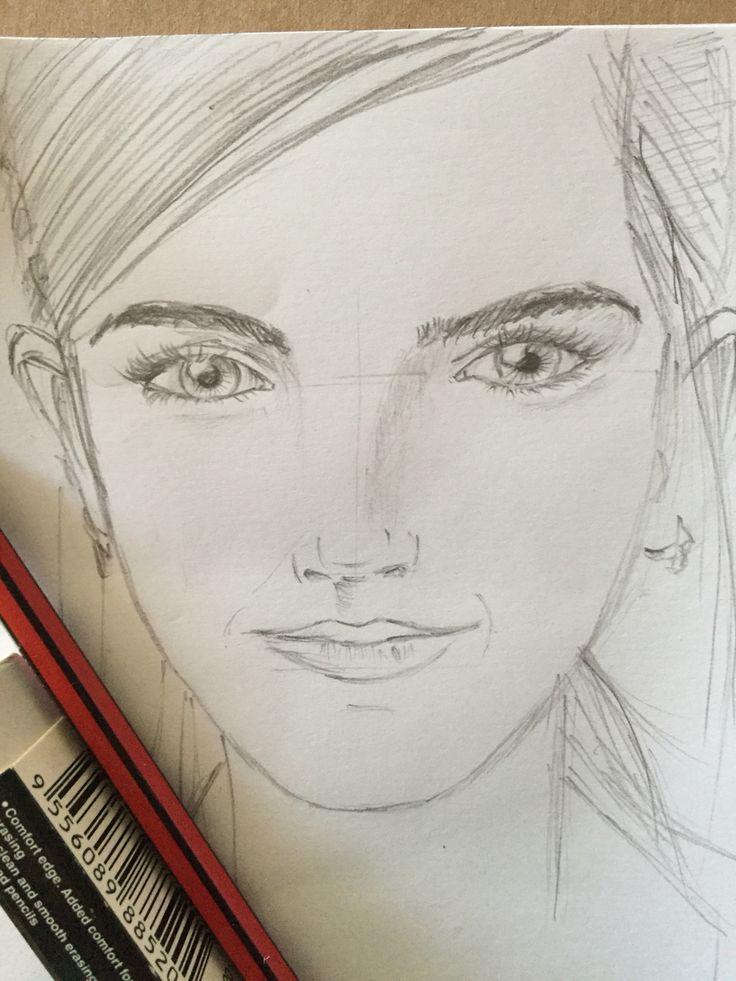 Otro boceto simple de actriz,.. Emma Watson