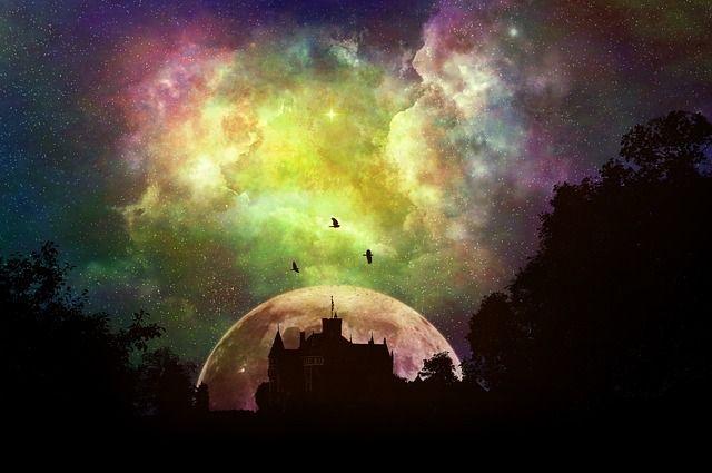 Kasteel, Bos, Dekking, Fantasie, Sprookjes, Mystiek