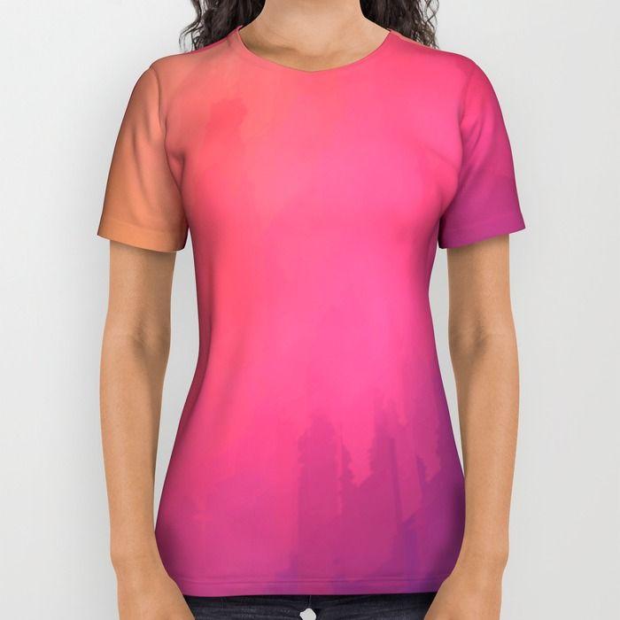 Watercolors Fun III All Over Print Shirt by Texnotropio   Society6