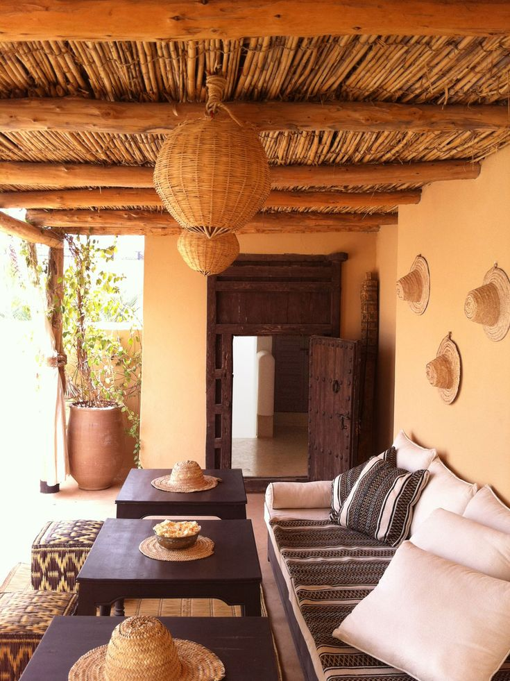 The Moroccan Riad Snan13 Hotel in Mouassine, Morocco. The patio with its pool…