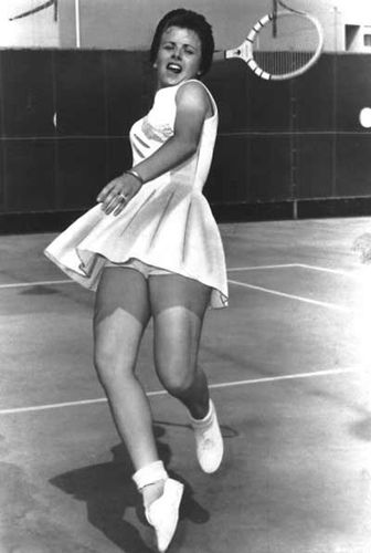 Young Billie Jean King - c. the match of the century...the battle of the sexes with Bobby Riggs.