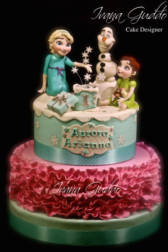 Cakesdecor Frozen Cake : 1000+ ideas about Anna Frozen Cake on Pinterest Frozen ...