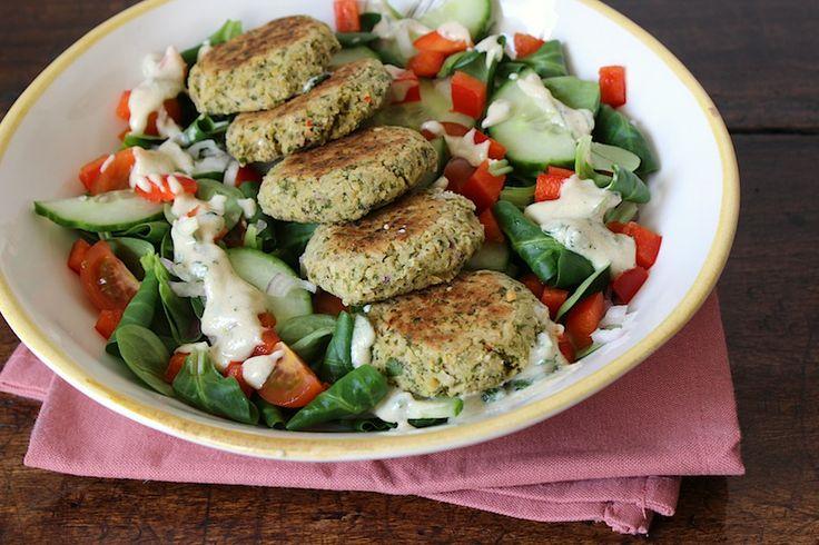 Combi recept falafel en falafelsalade - http://Keukengadget.nl