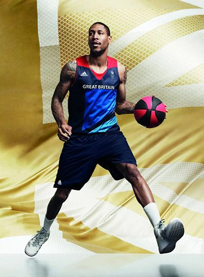 Drew Sullivan in men's basketball kit. The official London 2012 Olympic and Paralympic Games Team GB kit, designed by Stella McCartney has been launched.
