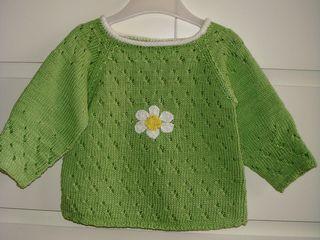 Daisy Baby Pullover