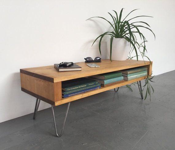 Oldfield Low Mid Century Style Side Table/ by DerelictDesign