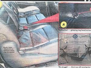 Anni's L25k rings were found by police left in the car seats, the killers did not take them despite Dewani's claim that they were hijacked for robbery.