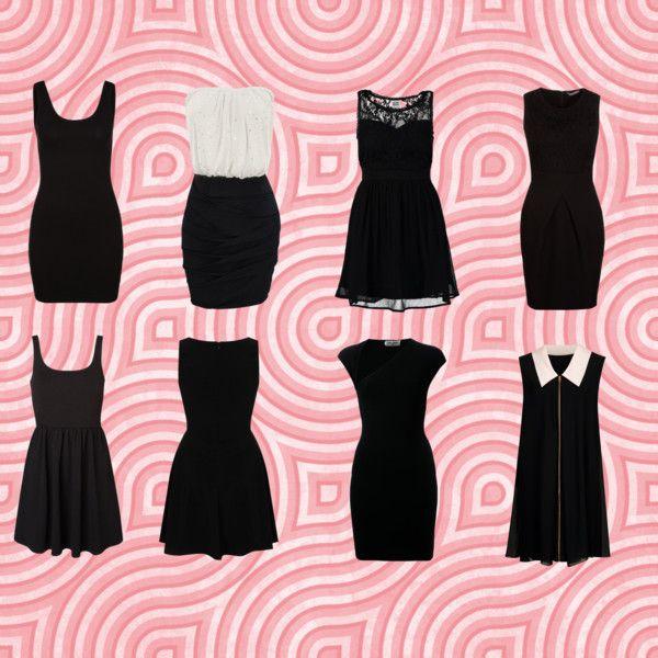 """""""Lo mejores vestidos negros cortos"""" by debkrasnovsky on Polyvore"""