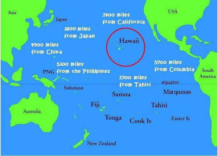 map of hawaii and california california map