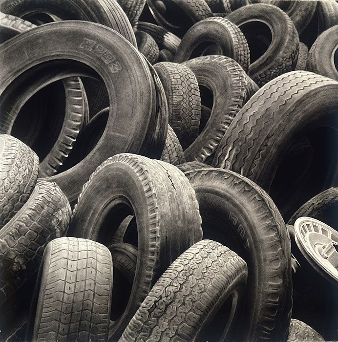 Tires #1 60x60 2002 conte crayon on paper