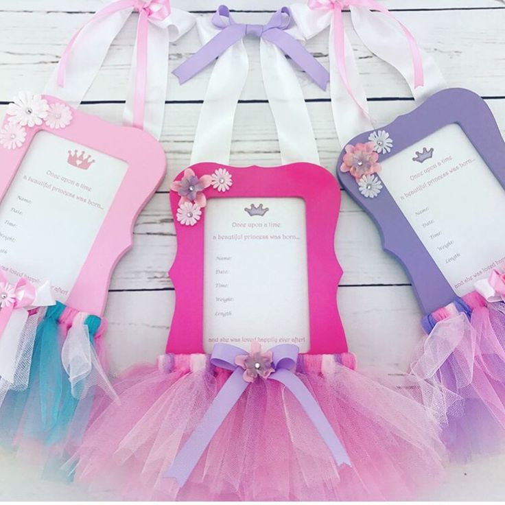 Excited to share the latest addition to my #etsy shop: Hospital Door Hanger - New Baby Picture Frame - Pink Tutu Gift - Tutu Nursery Decor - New Baby Hospital Gift - Baby Gift From Grandma