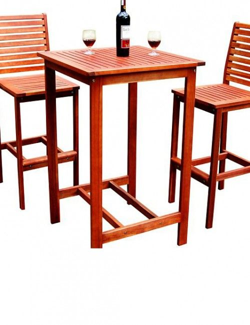 tall bar table with a stool