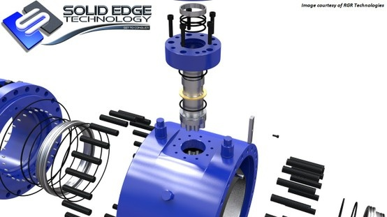 350 NB Class 600 MS Ball Valve. Modeled in Solid Edge.